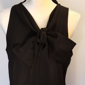 C/MEO Collective 100% Silk Blouse with Bow Tie